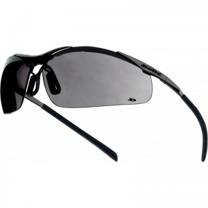 Bollé Contour Metal Smoke Lens Panoramic Safety Glasses CONTMPSF