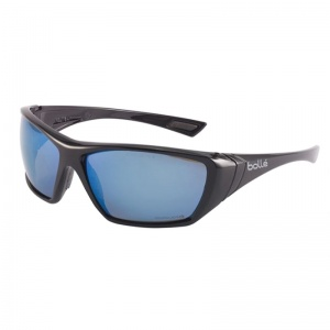 Bollé Hustler Blue Safety Glasses HUSTFLASH