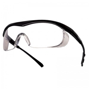 Bollé Targa Clear Safety Glasses with Black Frames TABPSI