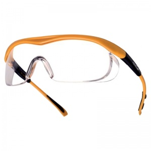 Bollé Targa Clear Safety Glasses with Saffron Frames TAPSI