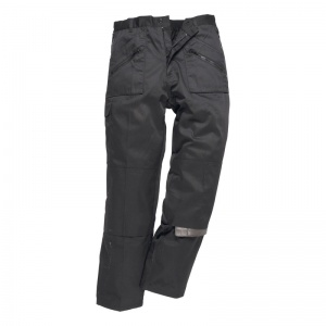 Portwest C387 Black Thermal Lined Action Trousers