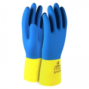 Capitol II Chemical-Resistant Double-Dipped Rubber Gloves