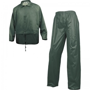 Delta Plus 400 Green Waterproof Rainsuit with Pockets