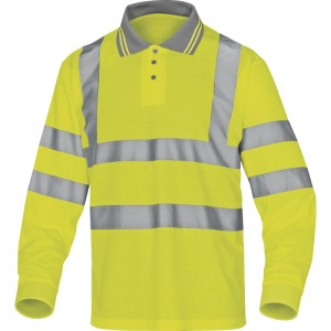 Delta Plus METEOR Hi-Vis Yellow Polo with Sleeves