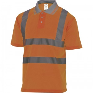 Delta Plus OFFSHORE Hi-Vis Orange Polo