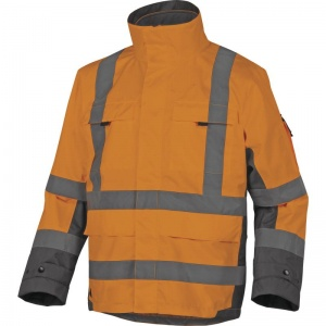 Delta Plus TARMAC Hi-Vis Orange 4 in 1 Thermal Waterproof Parka