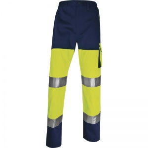 Delta Plus PHPA2 Panostyle Hi-Vis Yellow Working Trousers