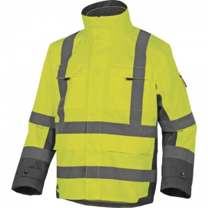 Delta Plus TARMAC Hi-Vis Yellow 4 in 1 Thermal Waterproof Parka