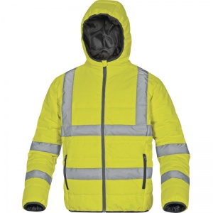 Delta Plus DOONHV High Visibility Yellow Quilted Thermal Jacket