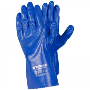 Ejendals Tegera 7351 Chemical-Resistant Nitrile Dipped Gauntlets