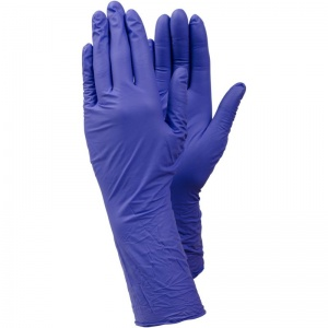 Ejendals Tegera 848 Powder-Free Nitrile Extra Long Disposable Gloves