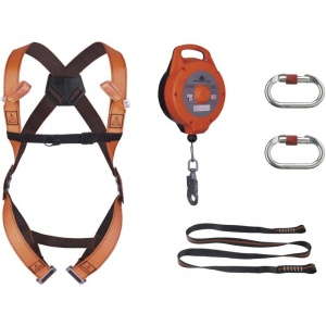 Delta Plus ELARA270 Fall Arrest Kit with Fall Arrester and Lanyard