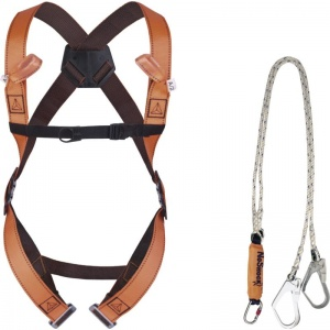 Delta Plus ELARA280 Scaffolding 2-Point Fall Arrest Harness with Energy Absorbing Lanyard