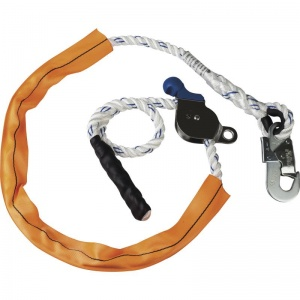 Delta Plus EX118400A 4m Adjustable Work Positioning Lanyard with Tensioner