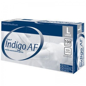 Polyco Finite P Indigo AF Disposable Nitrile Gloves MFNP100