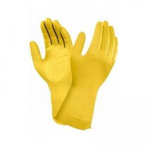 Ansell AlphaTec 87-086 Yellow Chemical Food Handling Gauntlets