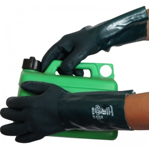 UCi Green 14'' Double Dipped PVC Gauntlet Gloves V335