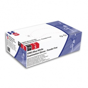 Hand Safe GN83 Blue Nitrile Powder-Free Disposable Gloves