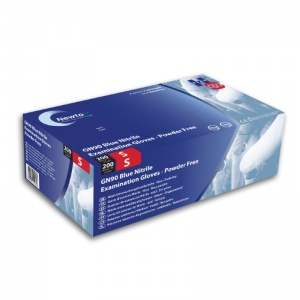 Hand Safe GN90 Blue Nitrile Examination Powder-Free Disposable Gloves