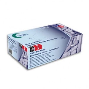 Hand Safe GN91 Textured Blue Nitrile Disposable Gloves