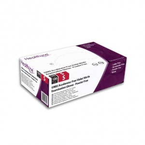 Healthline GN85 Textured Violet Nitrile Disposable Gloves