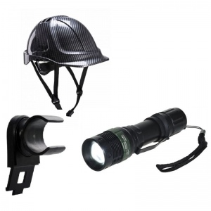Portwest Safety Helmet, Torch and Torch Clip Low Light Bundle