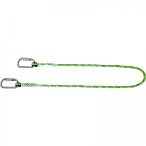 Honeywell 1032341 Kernmantle 2m Restraint Lanyard with Carabiner and Hook