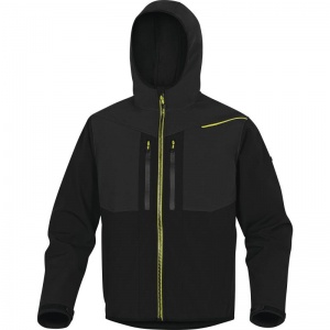Delta Plus HORTEN2 Black and Yellow Thermal Waterproof Softshell Jacket