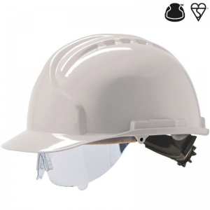 JSP MK7 White Electrical Safety Hard Hat with Visor