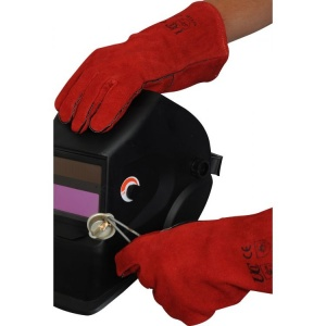 Lined Red Welding Gauntlets WGR