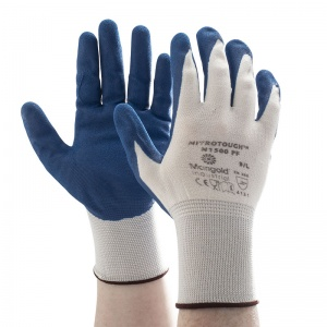 Ansell Marigold Nitrotough N1500PF Nitrile-Dipped Gloves