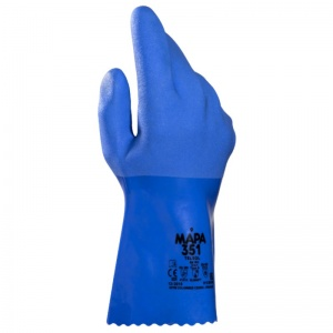 Mapa Telsol 351 Chemical-Resistant Food Handling PVC Gauntlet Gloves