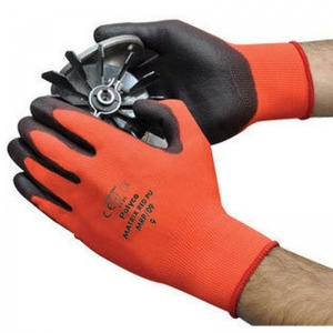 Polyco Matrix Red PU Palm-Coated Gloves MRP