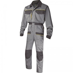 Delta Plus MCCOM Grey Corporate Overalls with Buttock Reinforcement
