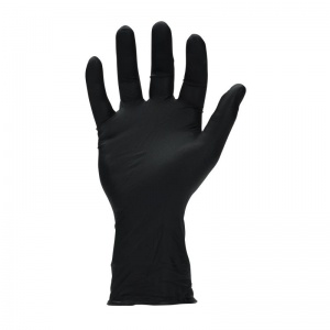 Megaman N66088 Disposable Powder-Free Black Nitrile Gloves