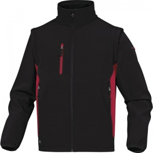 Delta Plus MYSEN2 Black and Red Softshell Jacket with Removable Arms