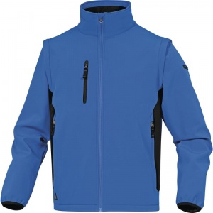 Delta Plus MYSEN2 Blue Softshell Jacket with Removable Sleeves