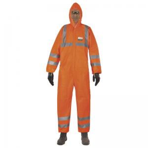 Honeywell 4509807 Ne-Hon 5+ High Visibility Orange Overalls with Hood