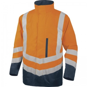 Delta Plus OPTIMUM2 Hi-Vis Orange 4 in 1 Waterproof Parka