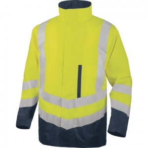 Delta Plus OPTIMUM2 Hi-Vis Yellow 4 in 1 Waterproof Parka