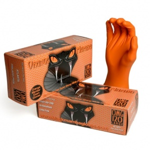 Orange Mamba Disposable Nitrile Gloves BX-OMG