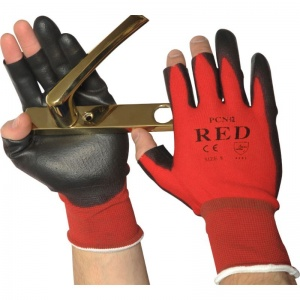 UCi Red Fingerless Handling Gloves PCN-12