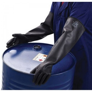 Polyco Chemprotec Unlined Rubber Gauntlets