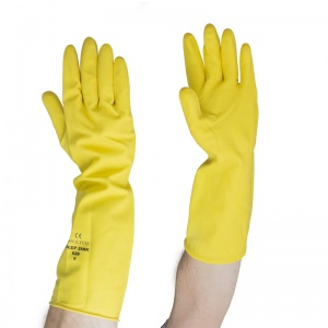 Polyco Deep Sink 62 Extra Long Yellow Rubber Gloves