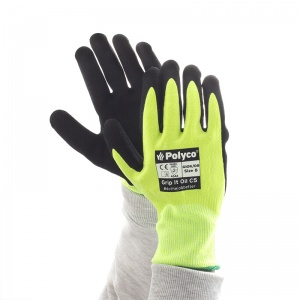 Polyco Grip It Oil C5 GIOK Hi-Vis Cut Level 5 Gloves