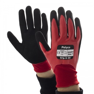 Polyco Grip It Oil Grip Safety Gloves GIO