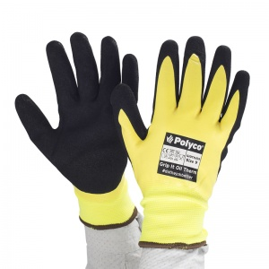 Polyco Grip It Hi-Vis Waterproof Thermal Oil GIOTH Gloves