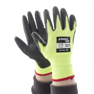 Polyco Matrix Green PU Level 4 Cut-Resistant Gloves MGP