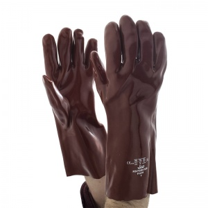 Polyco Polygen Plus 35cm Long Fully Coated PVC Gauntlet Gloves P13