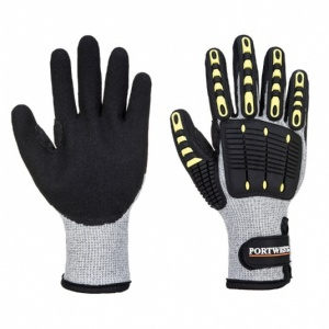 Portwest A729 Grey and Black Anti-Impact Cut Resistant Thermal Gloves